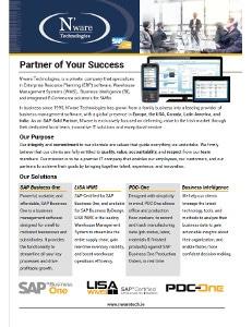 N'ware Technologies Corporate Brochure
