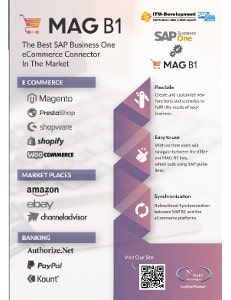ITM Dvelopment Mag B1 e-commerce and market place connector for SAP Business One